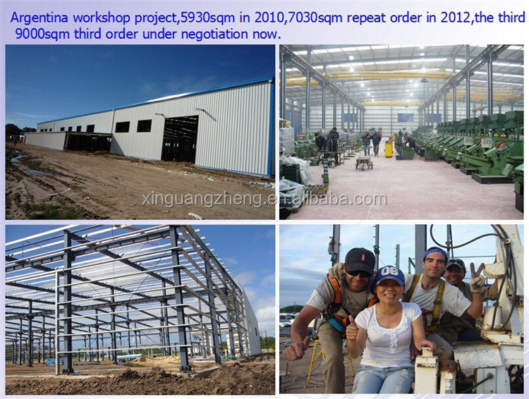 prefabricated workshop steel galvanized warehouse with fireproof coating