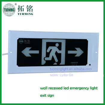 Verzonken Indicatie Exit Light Led Nooduitgang Board Verlichting ...