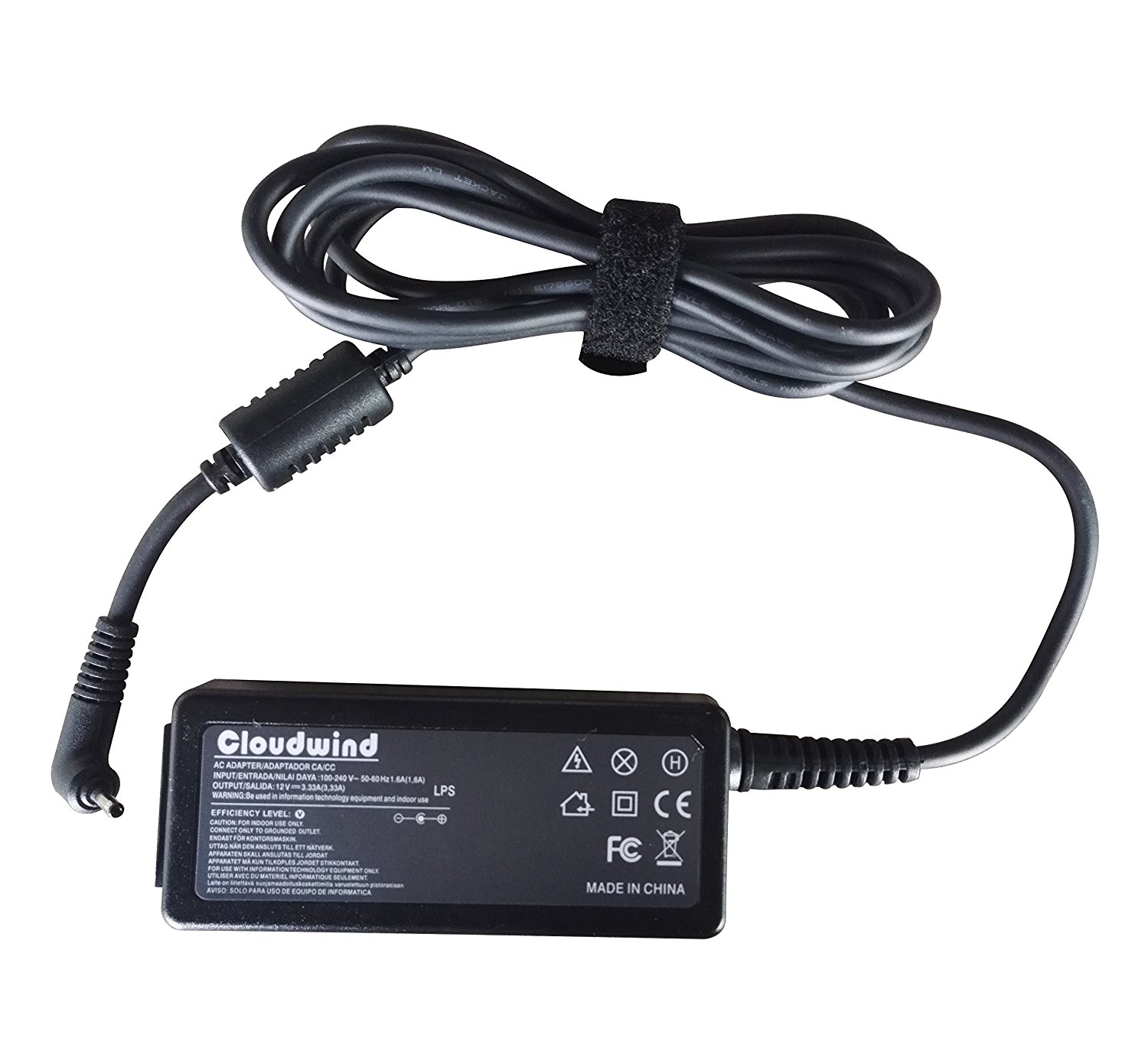 Cloudwind 12V 3.33A 40W Replacement AC Adapter Charger for Sumsung Laptop Models: Samsung ATIV Smart PC Tab 3, 5, 7 Pro XE700T1C, 500T, XE500T1C, 300T, XE300TZC; Ativ Book 9 NP930X2K