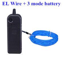 Светодиодная лента, гирлянда EL Wire 1 м/3 м/5 м, автомобильное внутреннее освещение, гибкая неоновая лампа с 12 В USB/батареей(Китай)