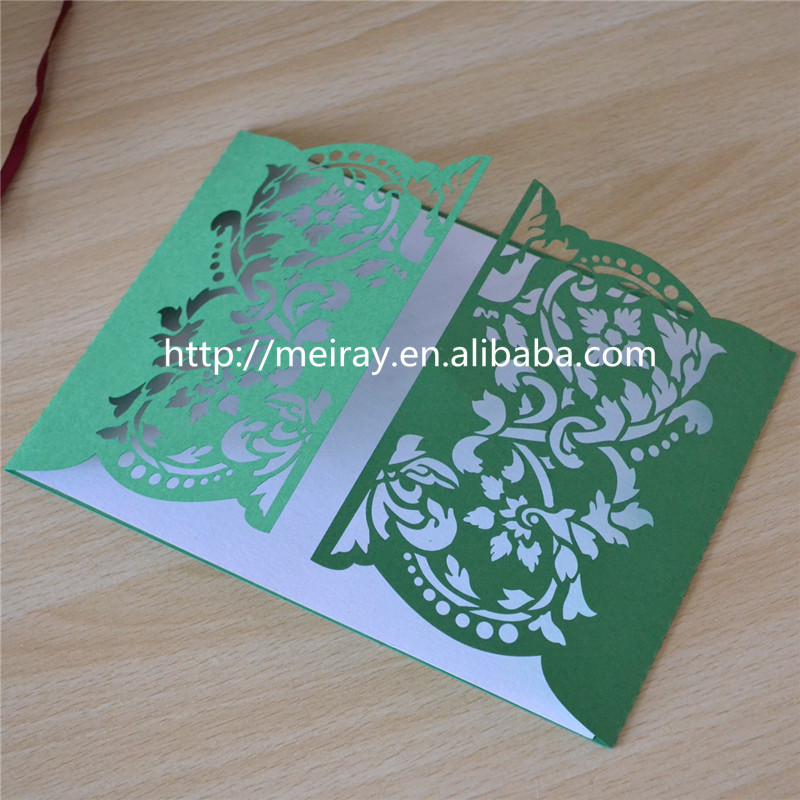 Paper Card Craft,Gate Invitations Card For Party,Green Wedding ...