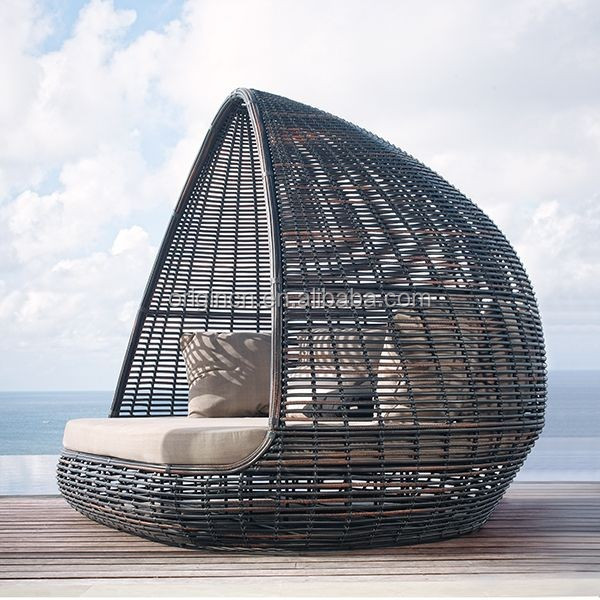 Home Patio Beach Thick Rattan Material Pyamidal Cocoon ...