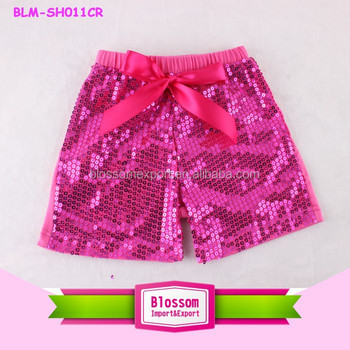 girls sequin shorts/Children hot pink sequin shorts/plus size sequin shorts