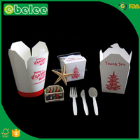 EBELEE round bottom paper noodle box food grade paper noodle box