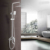 bathroom sanitary ware exposed wall mounted faucet rain shower set shower