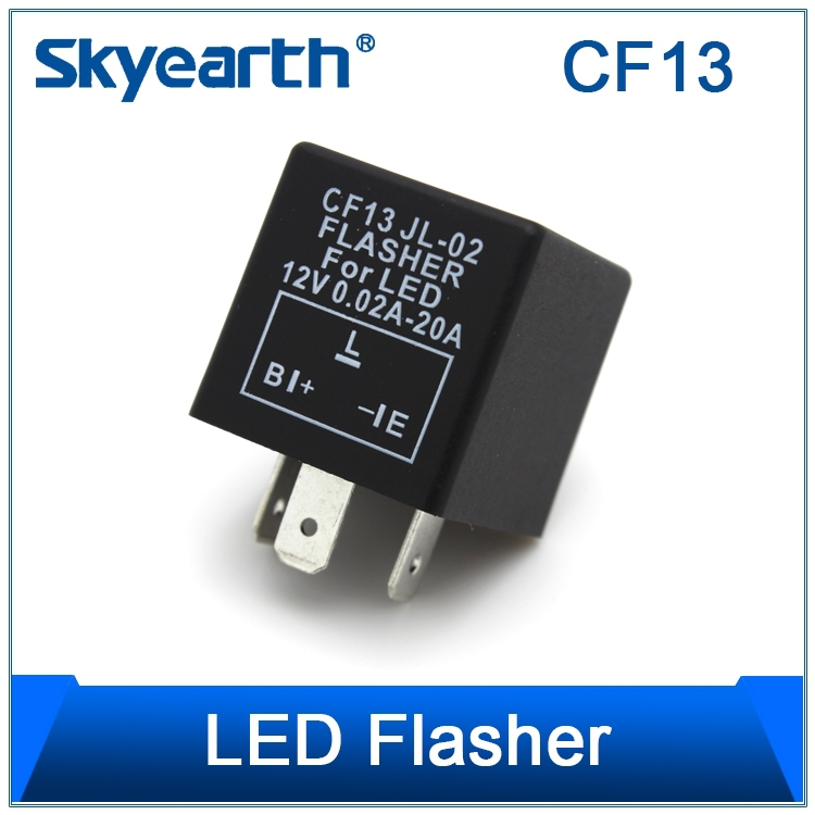 1 x CF13 Electronic Flasher Relay Fix LED/SMD Fast Indicator Blinker/Decoder