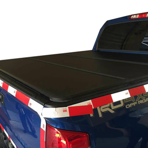 Retractable waterproof Hard tri-fold bed cover 4x4 pickup tonneau cover for Silverado 6.5ft bed without utility track 2014+