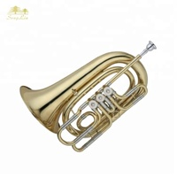 bb key wind instrumenhot selling lacquer gold trumpet