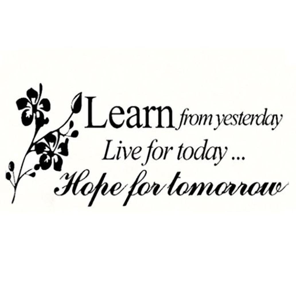 Rumas Learn From Yesterday Family Love Art Wall Quotes Wall Stickers Wall Decals