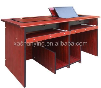 haute qualit d 39 cole en bois bureau d 39 ordinateur pour deux ordinateurs bureaux d 39 ordinateur id. Black Bedroom Furniture Sets. Home Design Ideas