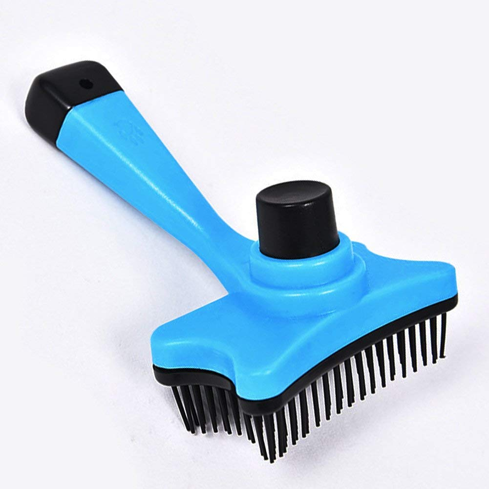 SDMH Pet Grooming Brush Multi-function Plastic Brush Faded Hair Massage Manual Stripper Brush For Small Dogs and Cats With Short to Long Hair
