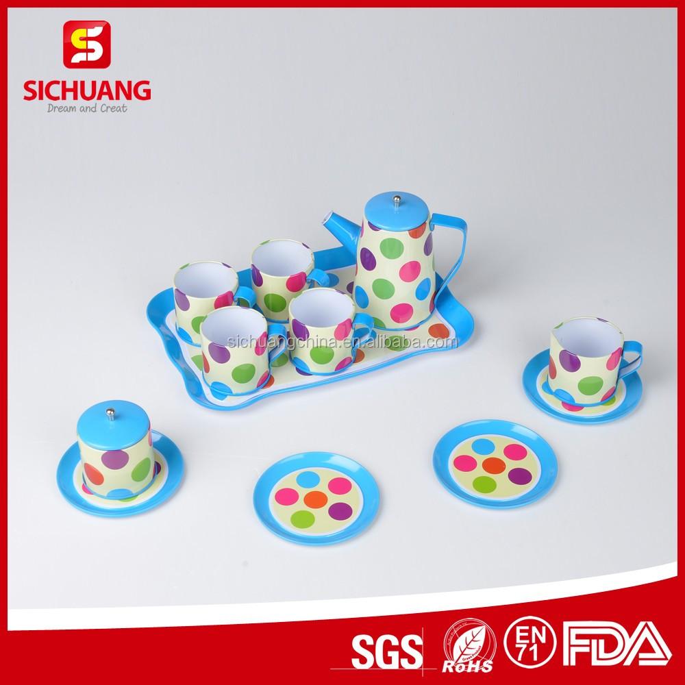 Walmart Audit Factory Colorful Mini Kitchen Play Set Toy Tin Tea Set ...