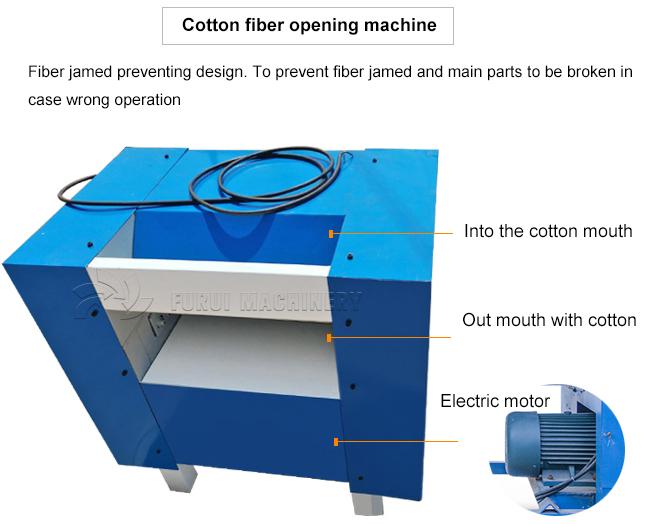 Goede kwaliteit katoen afval kaarden machine