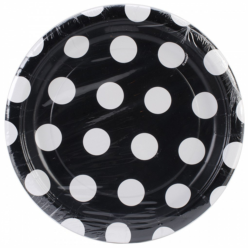 Get Quotations · 8 Black White Polka Dot Spot Style Party Small 7\  Disposable Paper Plates  sc 1 st  Alibaba & Cheap Black And White Paper Plates find Black And White Paper ...
