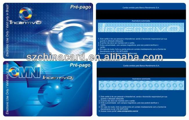 Plastic PVC Magnetic Stripe Card Read Write