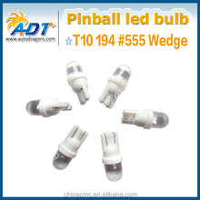 #555 #T10 Clear - Led Domed Bulbs x 10 Ideal for Pinball machine ( Mix and Match )