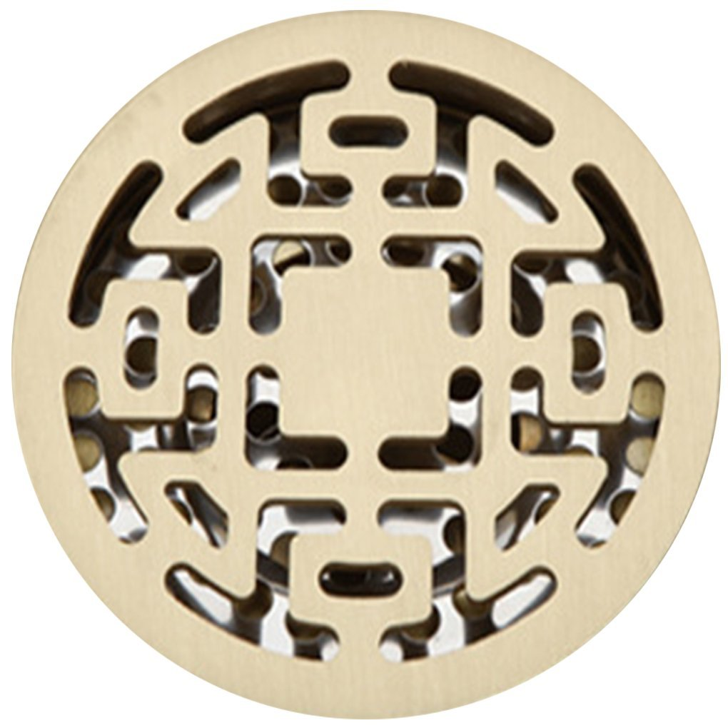Get Quotations · M Egal Circular Floor Drain Strainer Cover Linear Bathroom Shower  Strainer Cover G 82.575mm