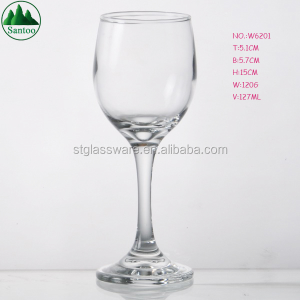 Iso 215ml Cheap Crystal Clear Machinemade Wine Tasting