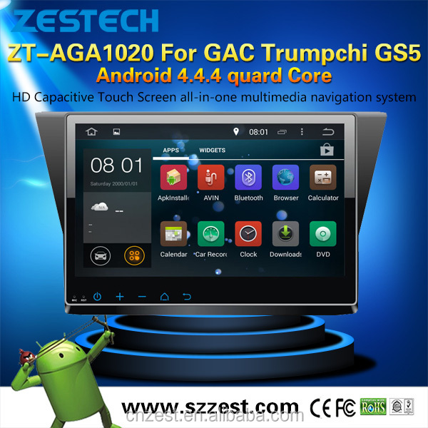 hot sale Android 4.4.4 up to android 5.1 car radio with sim card for GAC Trumpchi GS5