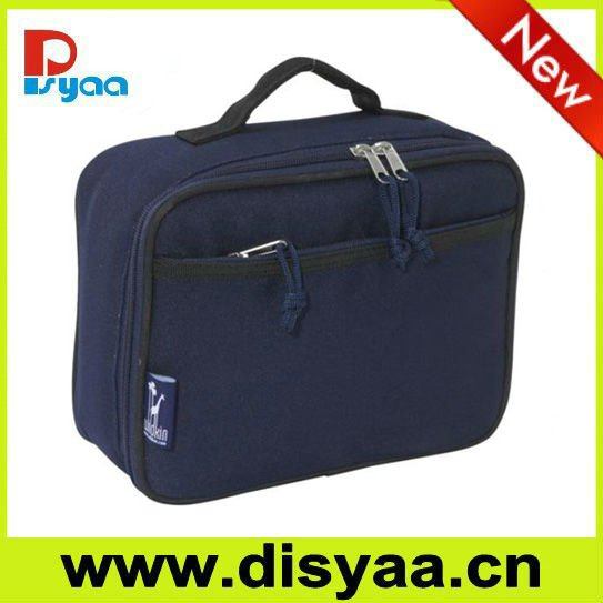 New design Navy Blue 600D Polyester Lunch Box
