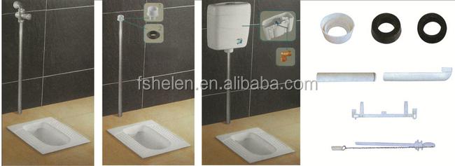 3/6L Plastic Wall Hung Toilet Water Tank Bathroom Water Cistern No.P76