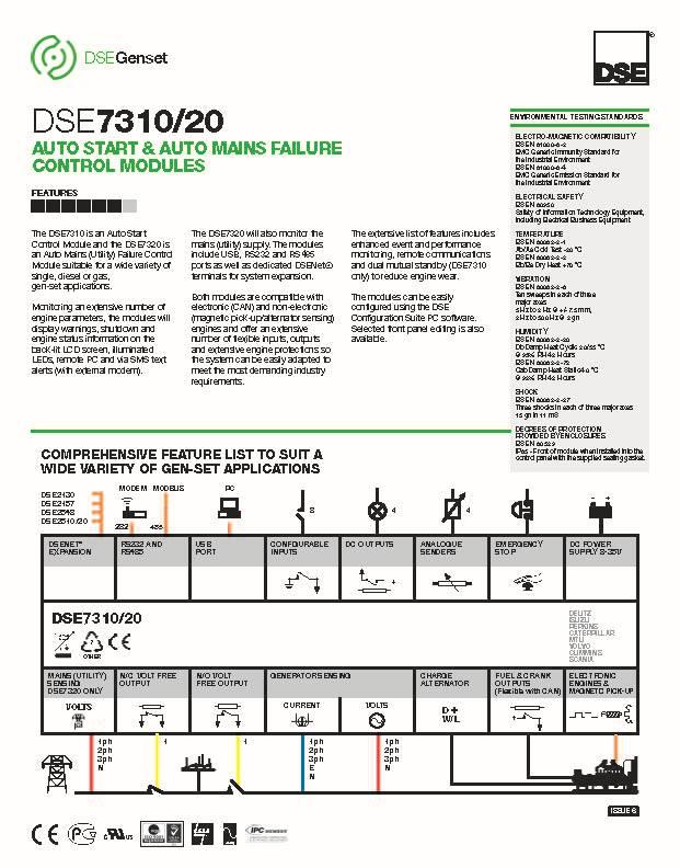 deep sea controller dse7320 smartgen generator controller 4 pin xlr wiring diagram 4 pin alternator wiring #12
