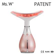 China supplier new 2017 neck care wrinkle removal face and neck lifting device nano vibration dolphin massager