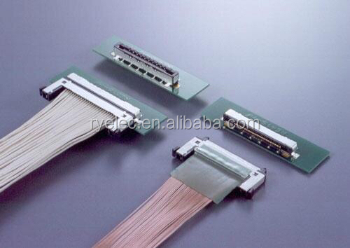 China manufactur Custom Ribbon LCD/LVDS cable with TYCO 2023344-2