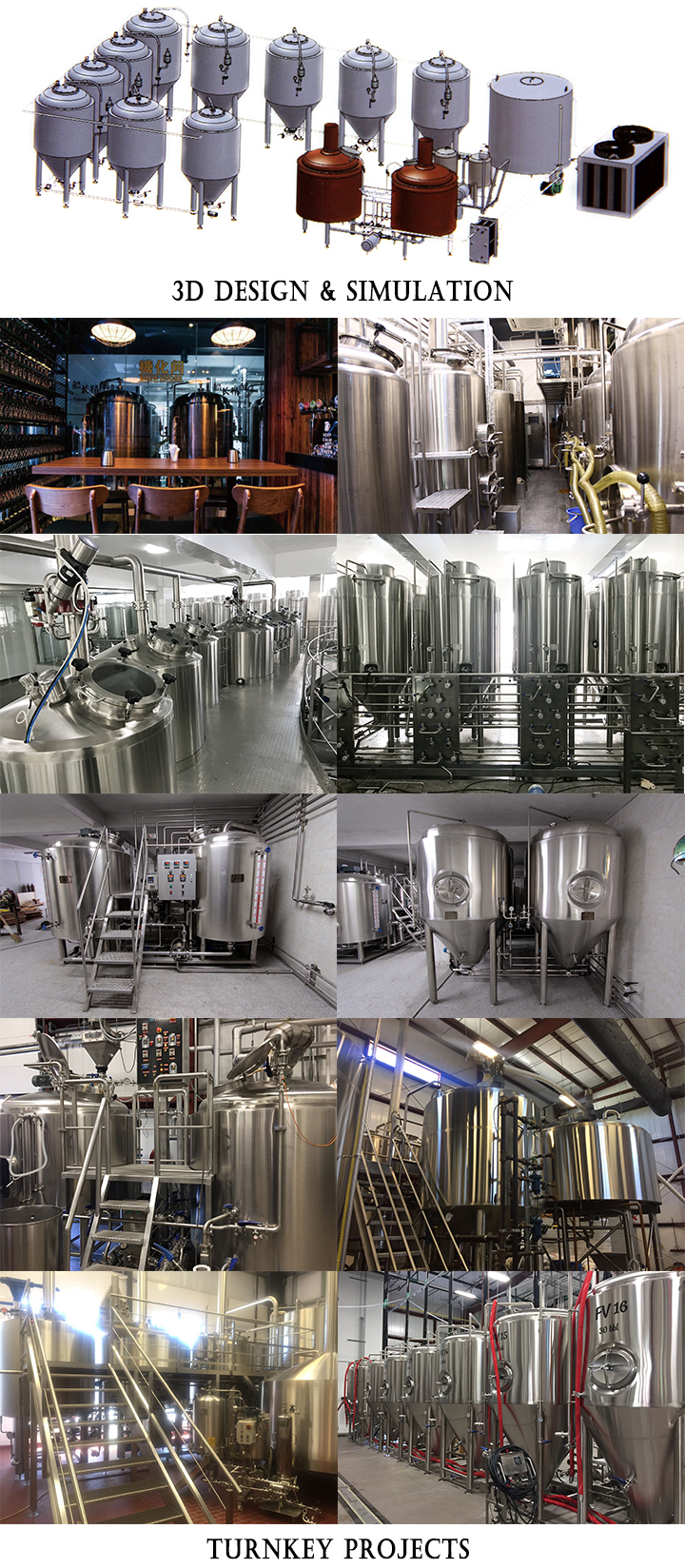 Beer brewing equipment 200L - 1000L for Restaurant Pub Brewhouse Craft beer equipment