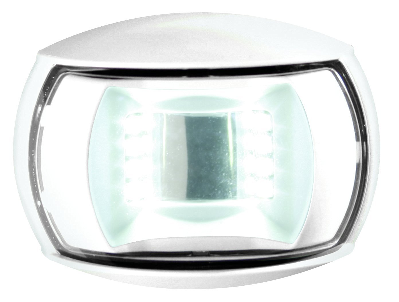 HELLA 980520511 '0520 Series' NaviLED Multivolt White 8-28V DC 2 NM Compact Stern Navigation Light with Clear Lens and White Shroud