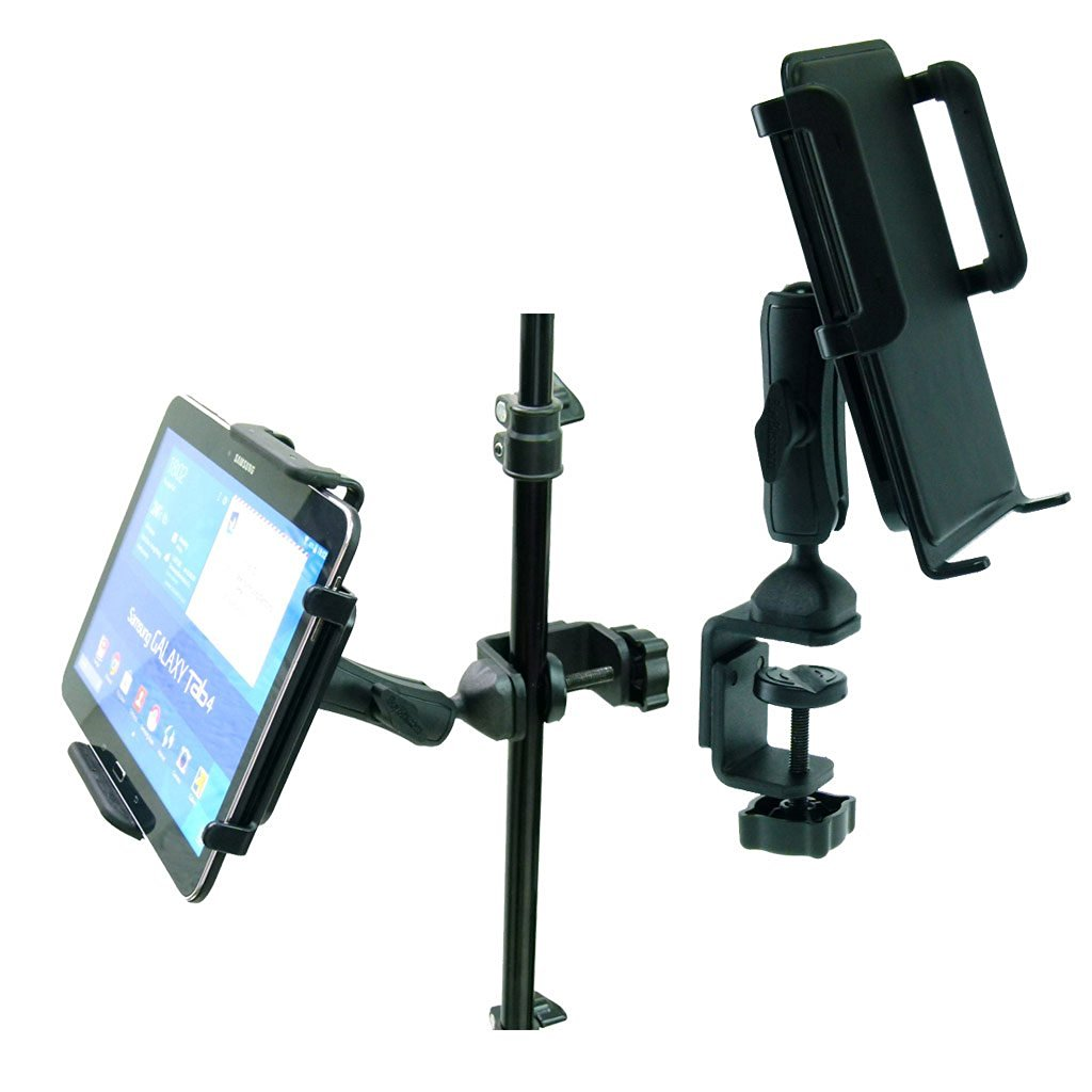 BuyBits Heavy Duty Adjustable C-Clamp Music Stand / Counter Top Mount for Samsung Galaxy Tab 4 (10.1)