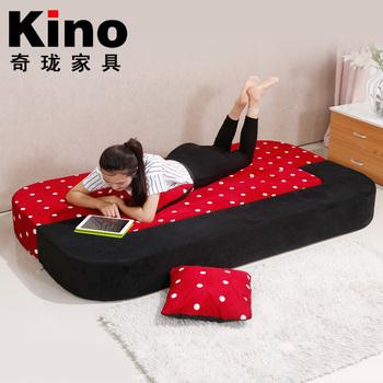 High Density Foam Folding Cum Bed With Velvet Fabric Sofa Bed Japanese  Double Sofa Folding Tatami