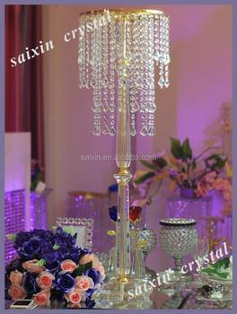 Crystal flower stand tall wedding candelabra centerpiece buy tall crystal flower stand tall wedding candelabra centerpiece junglespirit Images