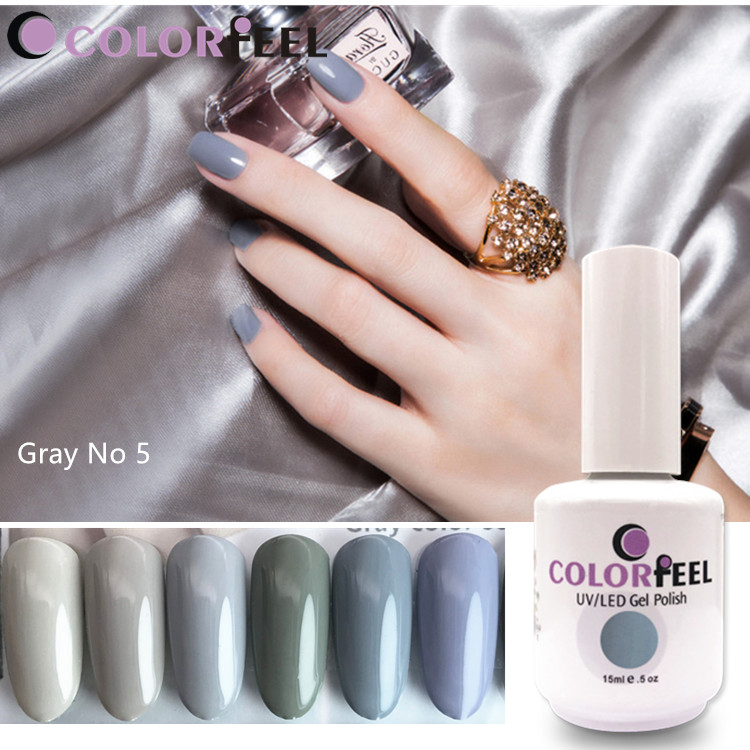 Manufacturer Popular gray color Easy Soak Off Beauty Lucky Korean led gel polish nail gel colors