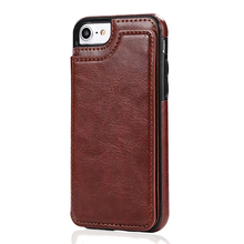 Manufacturer Wholesale Mobile Phone Wallet Full Cover Flip PU Leather Case for iPhone7/Plus