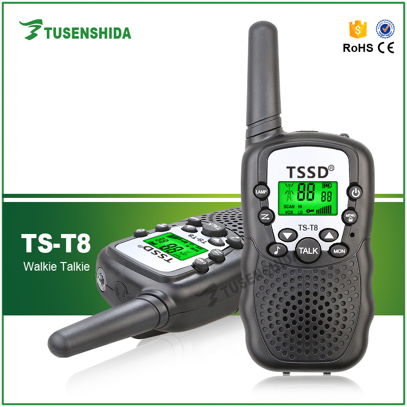 New arrive T8 UHF 22 Channels Two-way Radio Electronic Toys Portable Walkie Talkie Gift for Kid Child