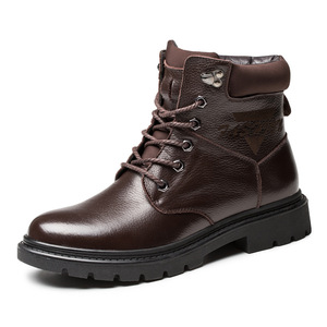 Martin boots men's high help outdoor 2018 new men's warm non-slip top layer leather men's boots tooling boots