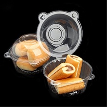 Customize Clear Small PET Plastic Cupcake Box with Lid