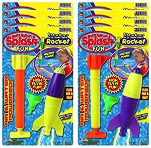 Ja-Ru Splash Water Rocket Party Favor Bundle (Pack of 8)
