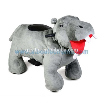 GM59 non coin operated motorized walking animal ride on toy for mall