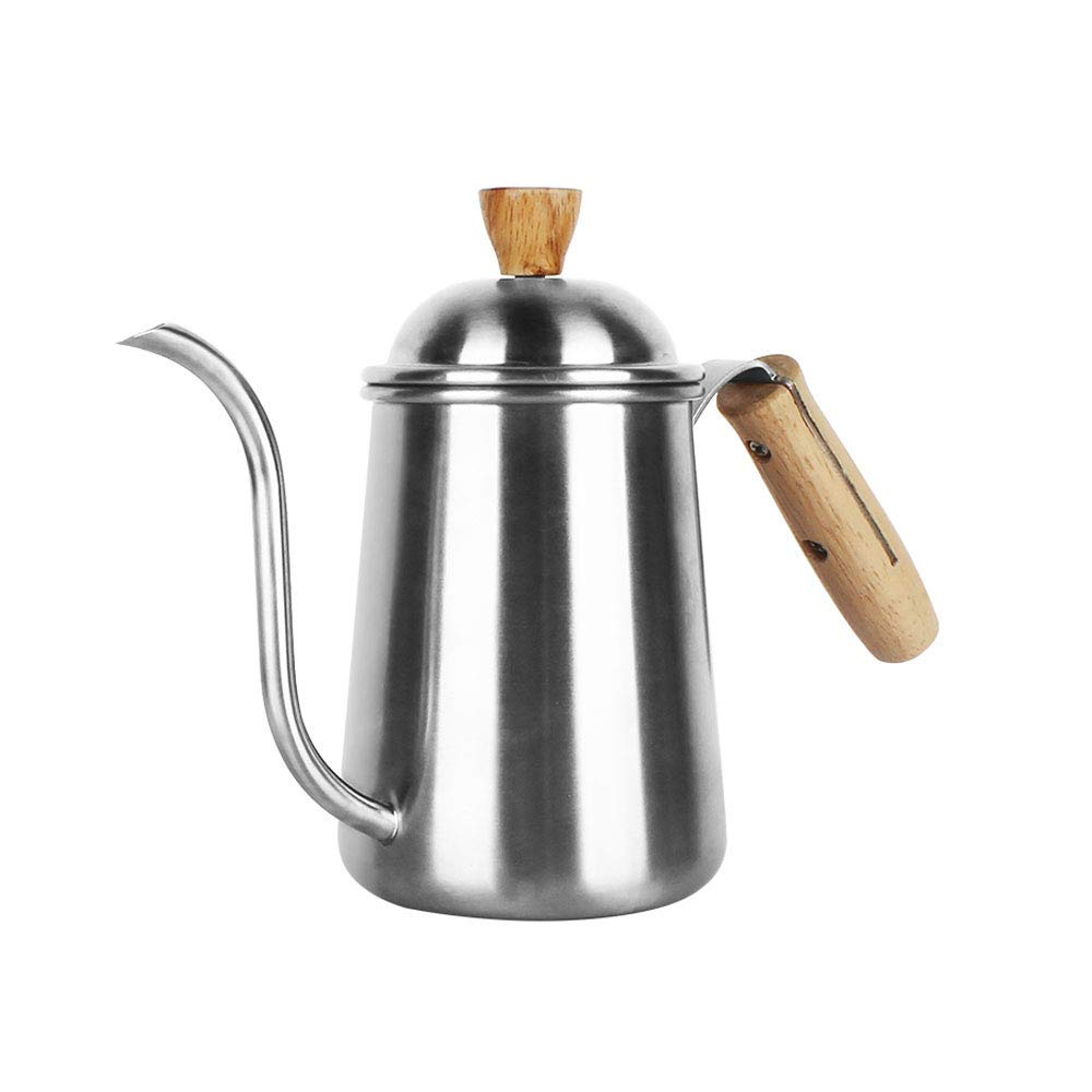 Stainless Steel Coffee Pot Long Mouth Pot Kettle Fine Mouth Pot Drip Type Hand-washing Pot