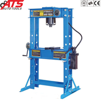 50T Air/hydraulic pneumatic shop press with gauge CE