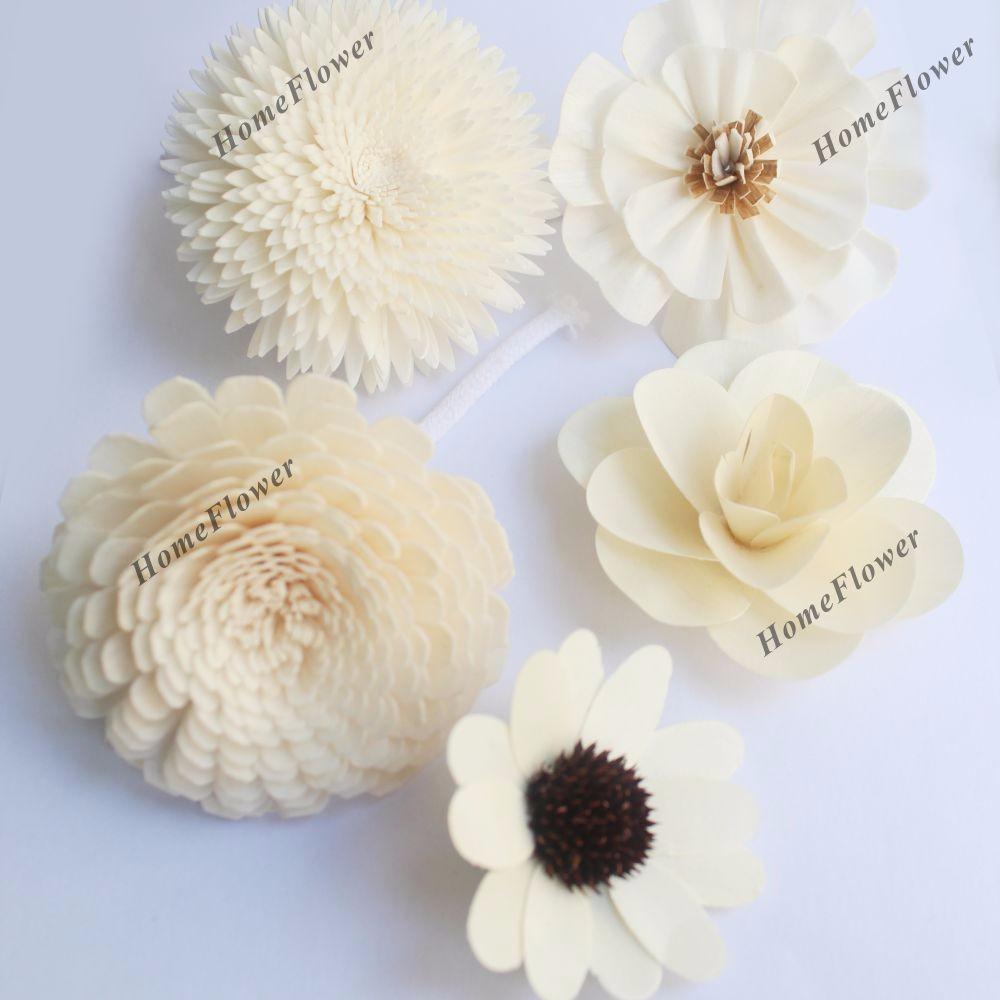 Hecho a mano Material orgánico seco de Sola madera flor Reed difusor