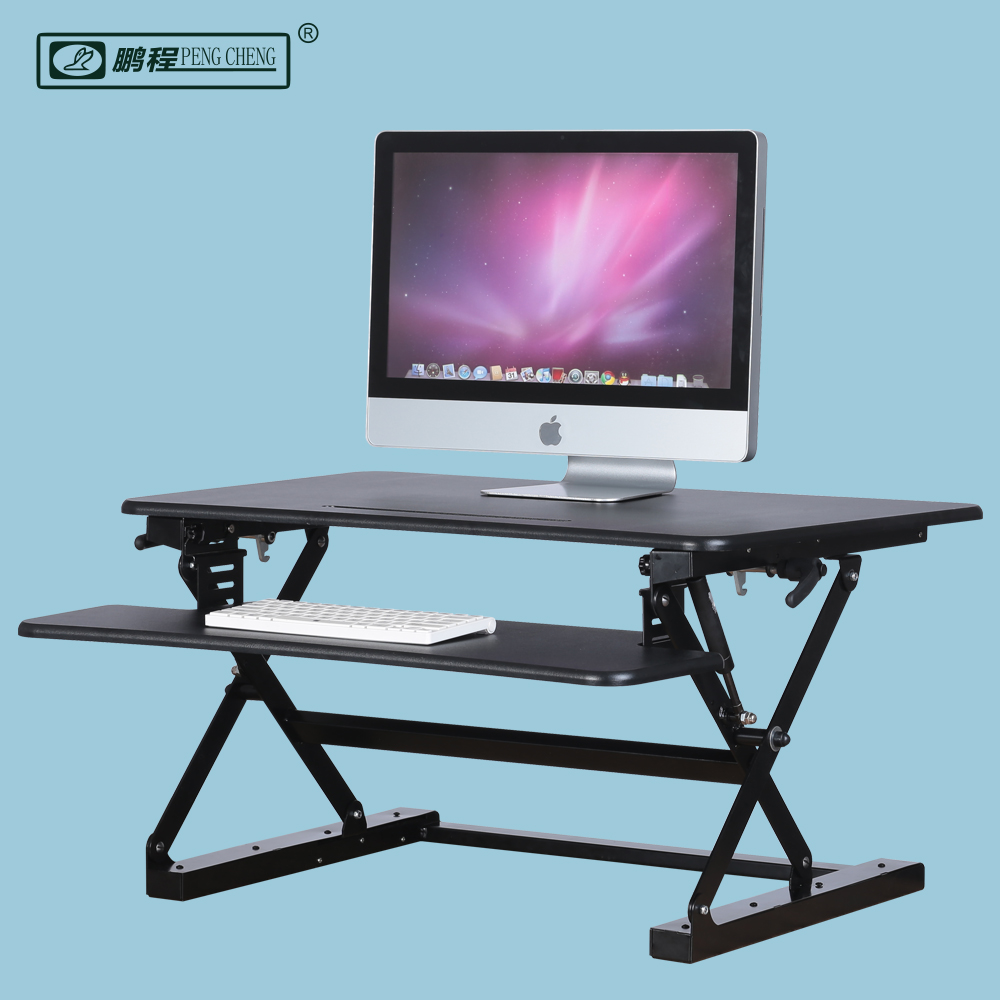 Modern Gas Spring Foldable Lift Up Adjustable Height Monitor and Keyboard Stand