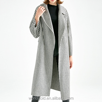 CUSTOM LOW MOQ WOMEN WINTER HIGH QUALITY WOOL LONG COAT