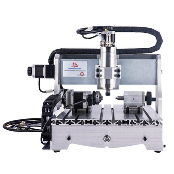 4 axis cnc router 4030Z-S800W water cooled spindle mini cnc milling machine 30*40cm for metal wood cutter machine