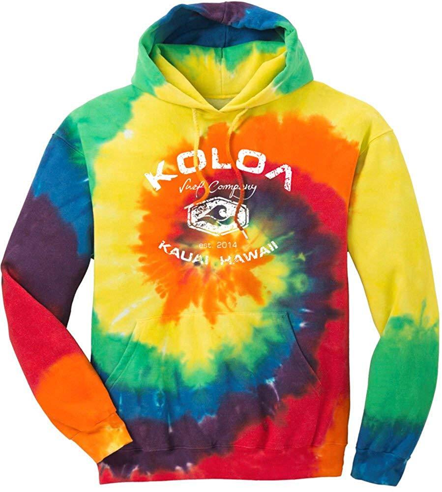 7accf79b1c22c Get Quotations · Joe's USA Koloa Surf Vintage Arch Logo Tie-Dye Hoodies - Hooded  Sweatshirts Sizes S