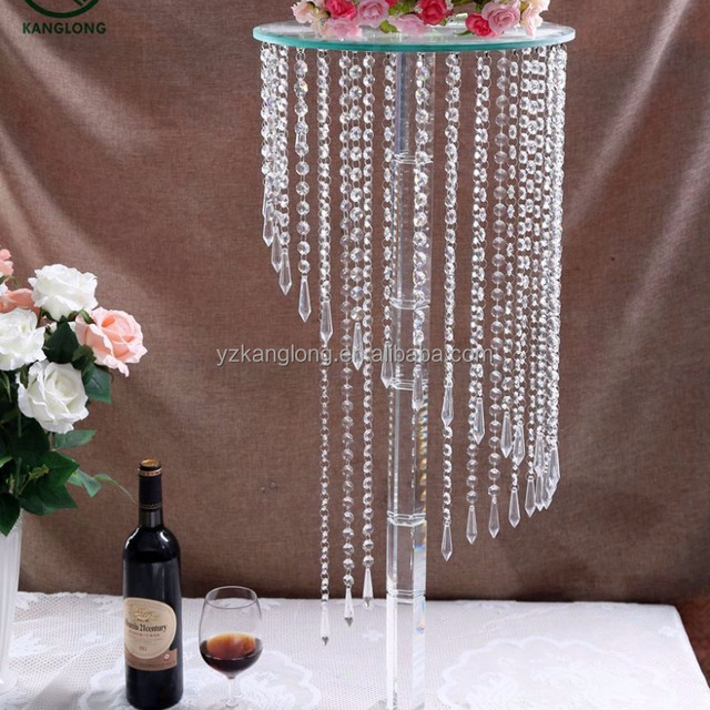 Crystal Table Centerpiece Candelabra For Wedding Decoration