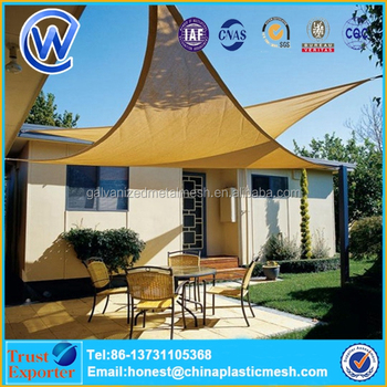 Waterproof Anti Uv Triangle Polyester Shade Sail With Outdoor Cloth
