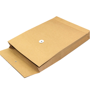 2019 Business envelope custom logo kraft paper 100% recyclable cheap printing paper grommet kraft paper envelope